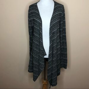 Volcom striped waterfall Cardigan Sweater grey